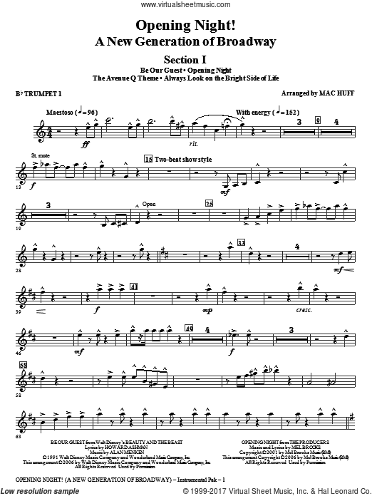 Opening Night (COMPLETE) sheet music for orchestra by Mac Huff