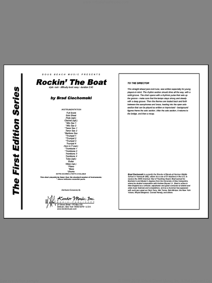 Rockin' The Boat (COMPLETE) sheet music for jazz band by Ciechomski, intermediate jazz band. Score Image Preview.