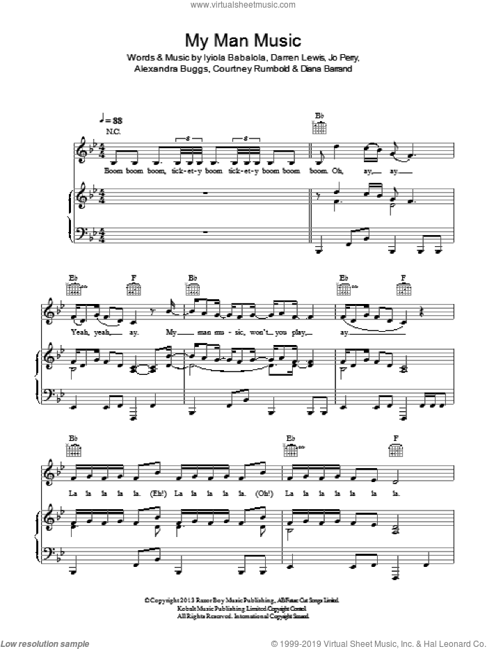 My Man Music sheet music for voice, piano or guitar by Stooshe. Score Image Preview.