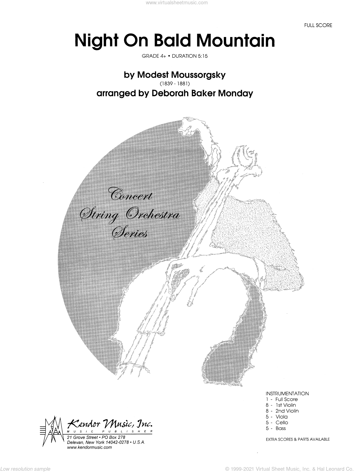 Night On Bald Mountain sheet music for orchestra (full score) by Moussorgsky