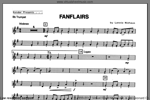 Fanflairs (COMPLETE) sheet music for trumpet and piano by Lennie Niehaus