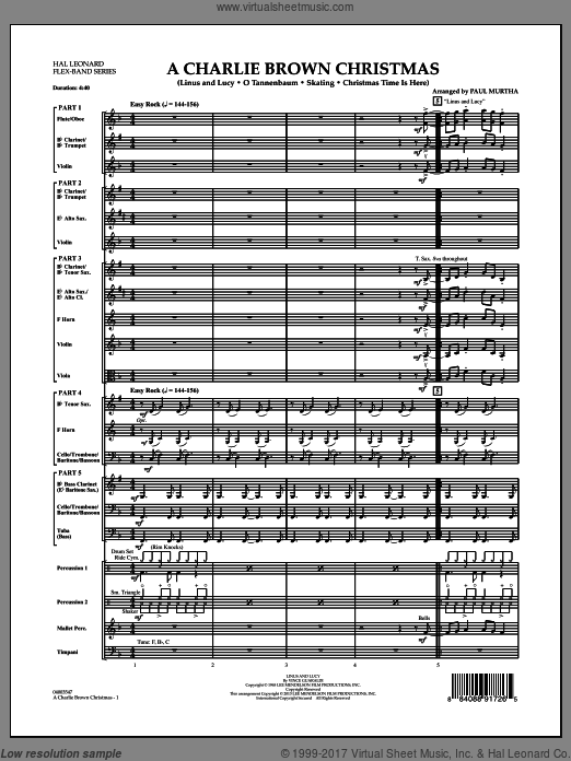 A Charlie Brown Christmas (COMPLETE) sheet music for concert band by Paul Murtha
