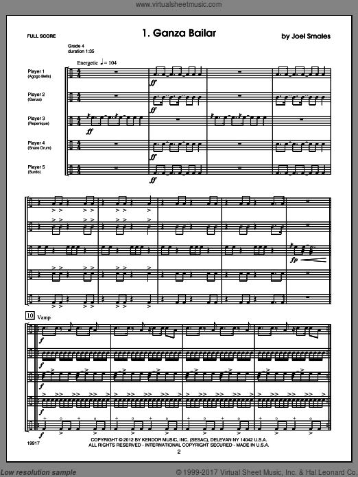Brazilian Beat (COMPLETE) sheet music for percussions by Smales