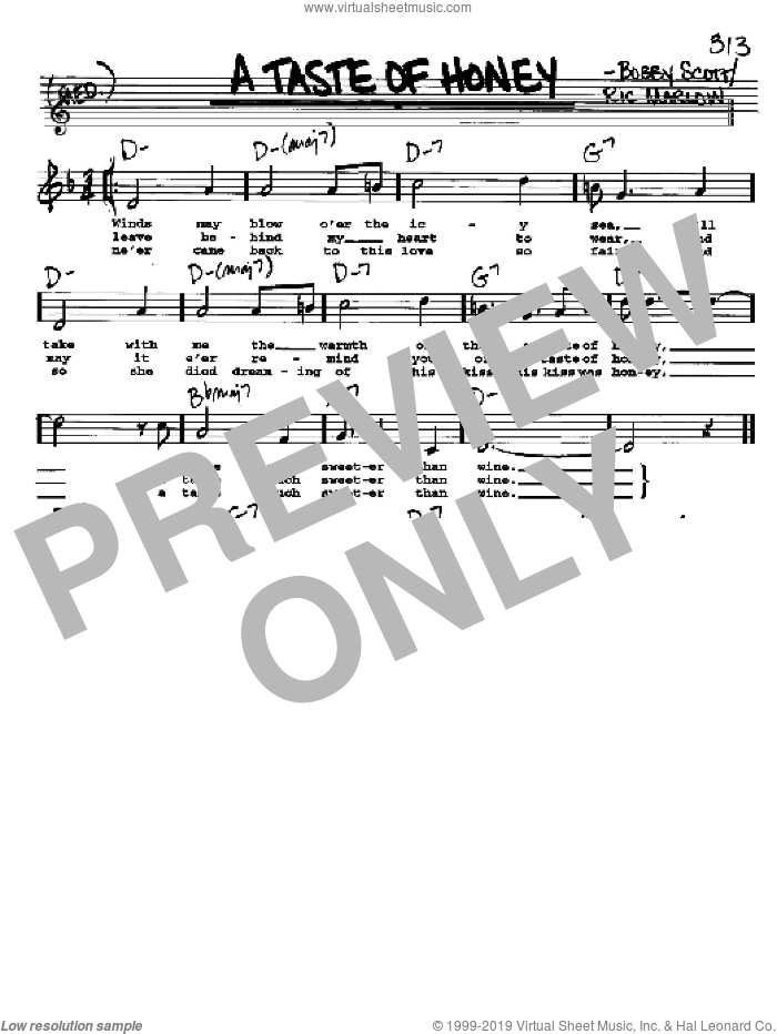 A Taste Of Honey sheet music for voice and other instruments  by The Beatles, intermediate skill level