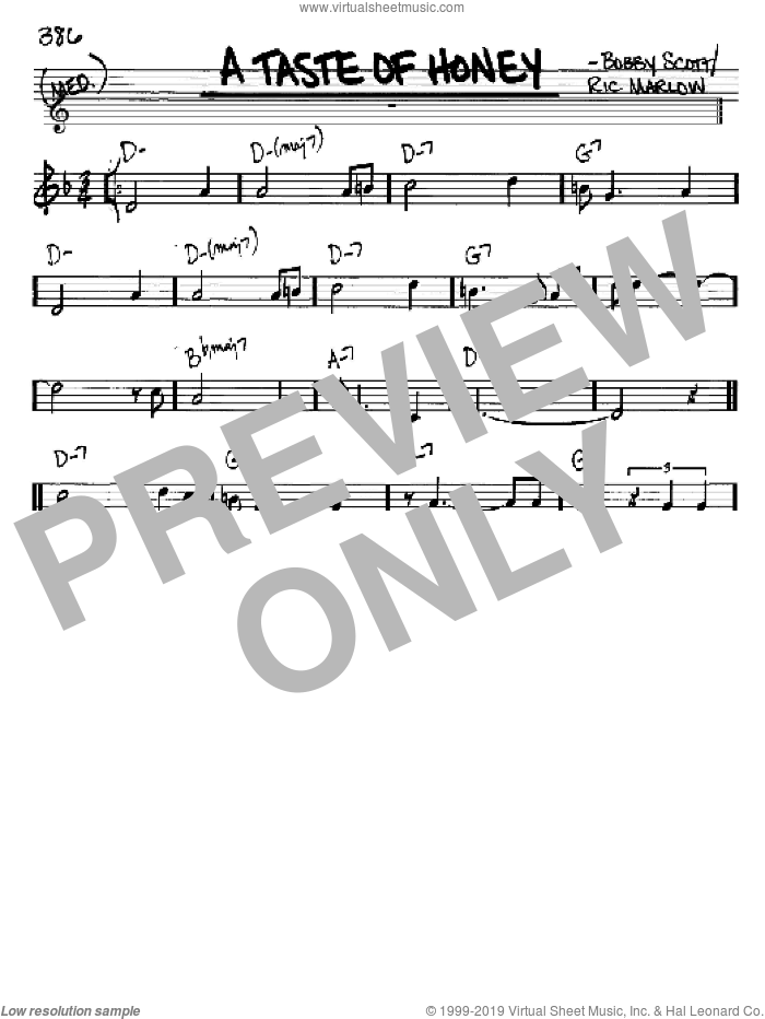 A Taste Of Honey sheet music for voice and other instruments (in C) by The Beatles, intermediate skill level