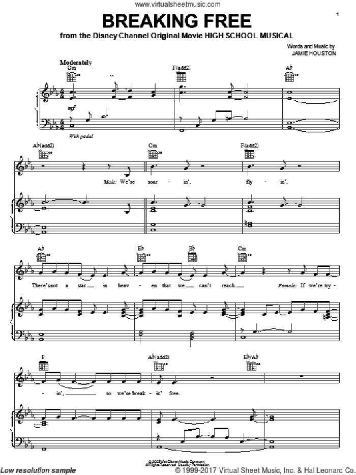 Selections from High School Musical (complete set of parts) sheet music for voice, piano or guitar by High School Musical, Adam Watts, Andrew Seeley, Andy Dodd, Ashley Tisdale, Greg Cham, Jamie Houston, Lucas Gabreel, Matthew Gerrard, Ray Cham, Robbie Nevil, Vanessa Hudgens and Zac Efron, intermediate skill level