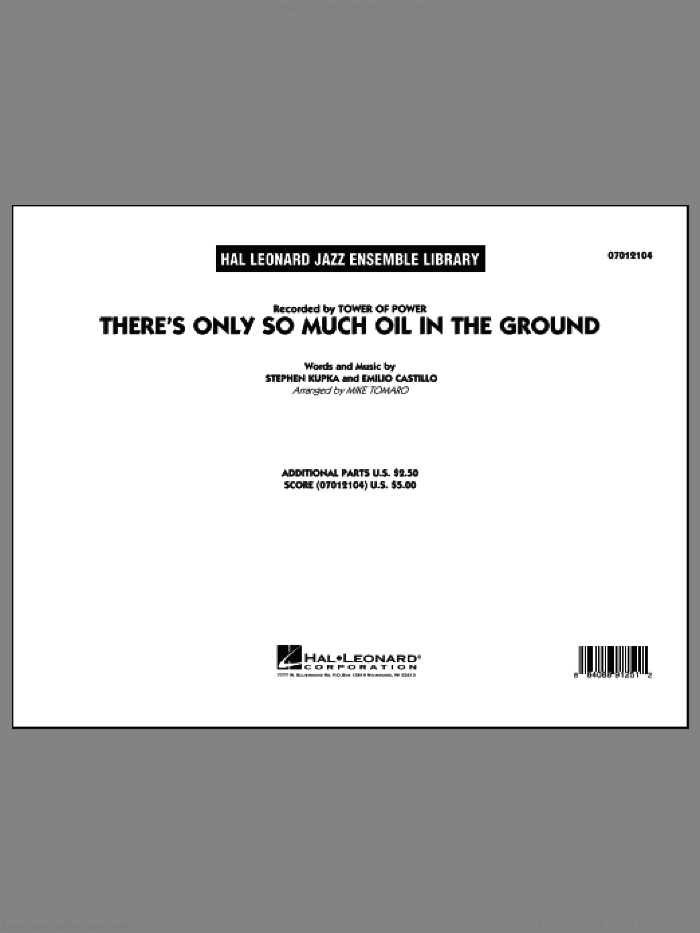 There's Only So Much Oil in the Ground sheet music for jazz band (full score) by Mike Tomaro and Tower Of Power. Score Image Preview.