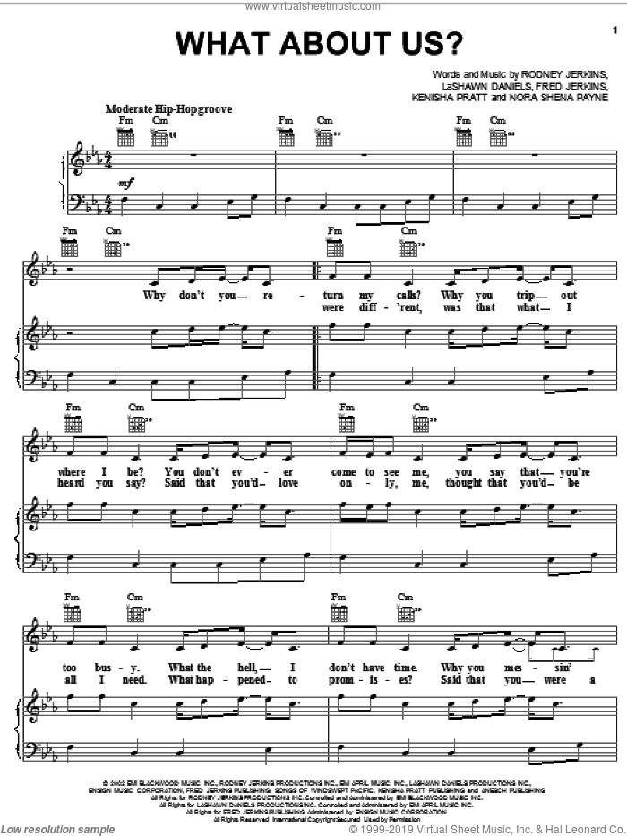 What About Us? sheet music for voice, piano or guitar by LaShawn Daniels