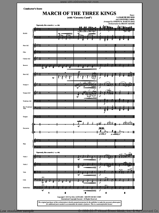 March Of The Three Kings (from A Symphony Of Carols) (COMPLETE) sheet music for orchestra by Joseph M. Martin