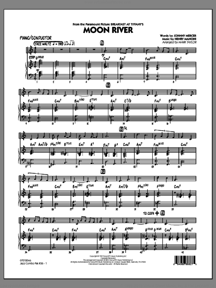 Jazz Combo Pak #36 (Henry Mancini) (COMPLETE) sheet music for jazz band by Mark Taylor, intermediate. Score Image Preview.