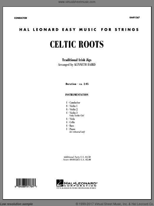 Celtic Roots (COMPLETE) sheet music for orchestra by Kenneth Baird