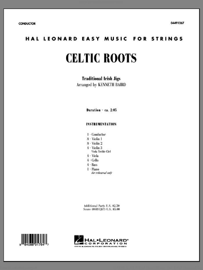 Celtic Roots (COMPLETE) sheet music for orchestra by Kenneth Baird, intermediate skill level