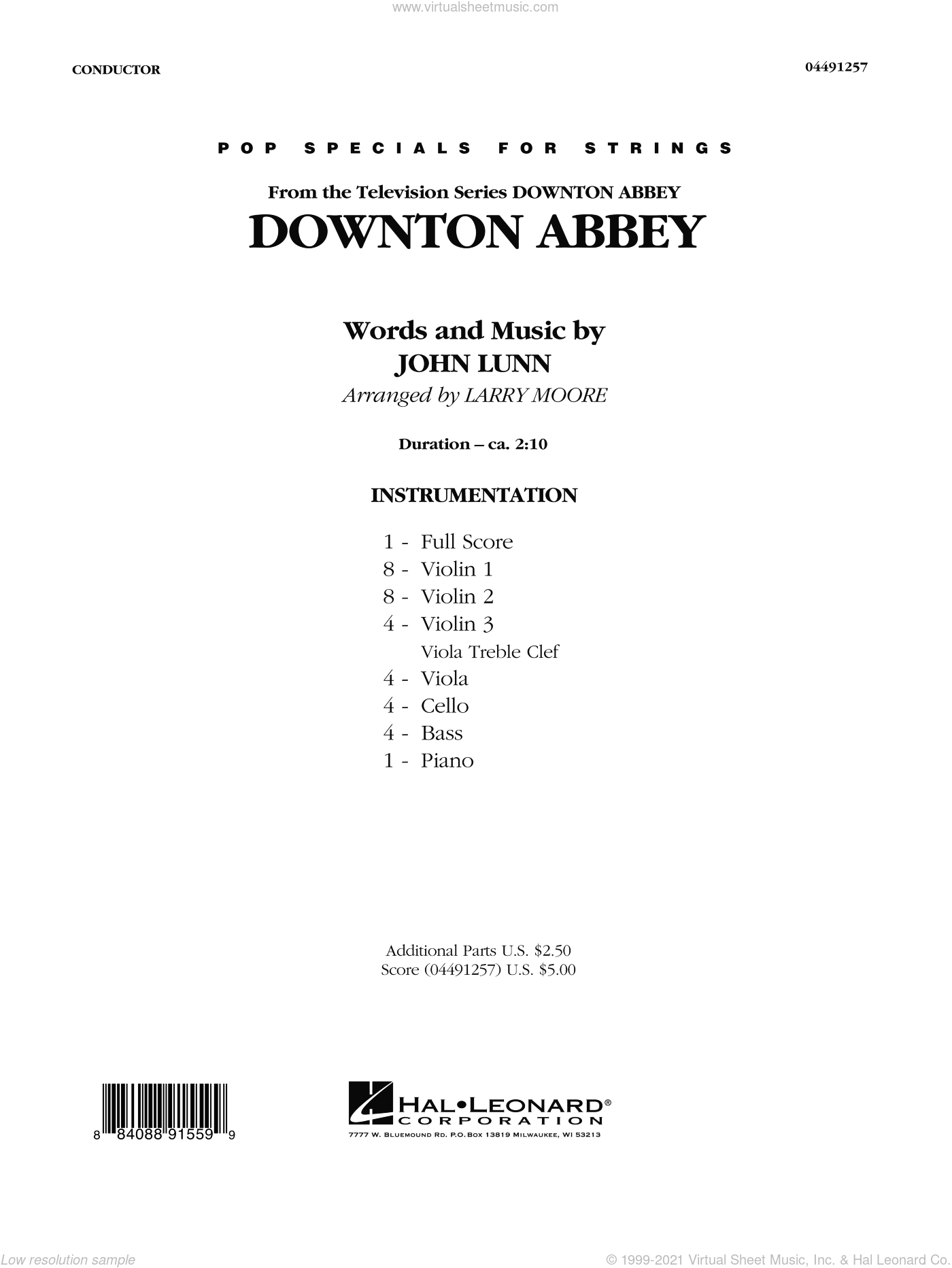 Downton Abbey sheet music for orchestra (full score) by Larry Moore