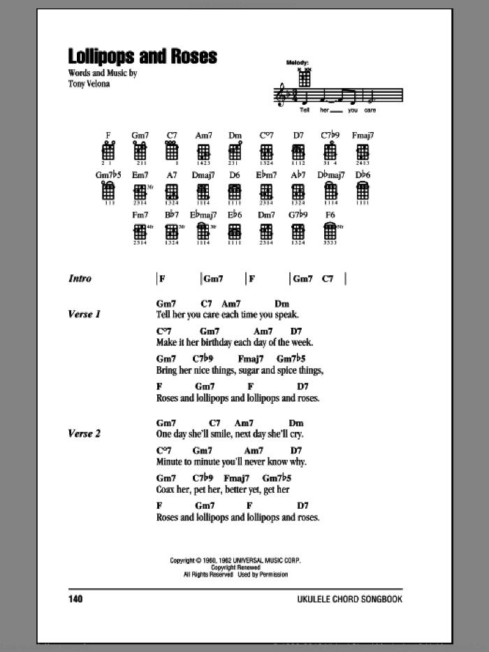 Velona - Lollipops And Roses sheet music for ukulele (chords)