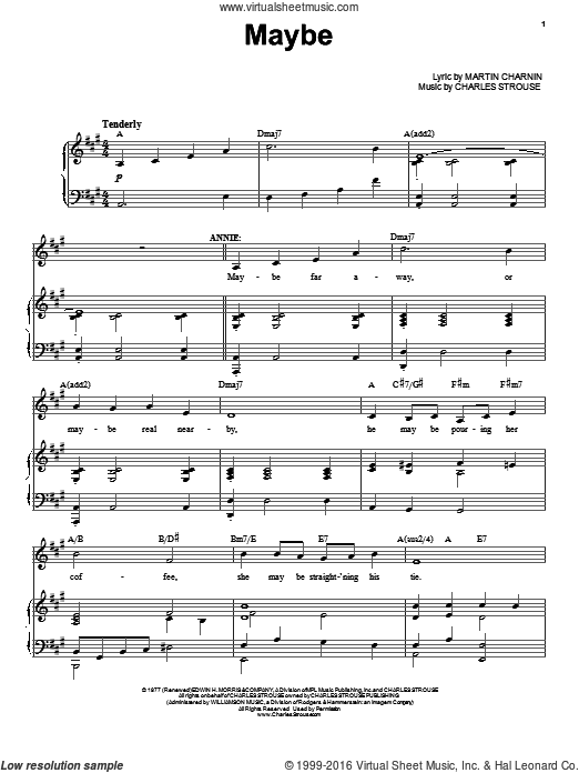 Maybe sheet music for voice, piano or guitar by Charles Strouse. Score Image Preview.