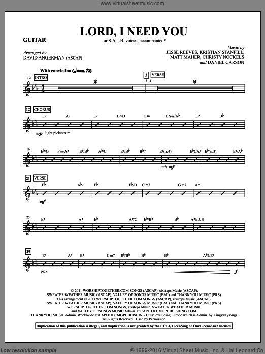 Lord, I Need You (COMPLETE) sheet music for orchestra by Passion and David Angerman, intermediate. Score Image Preview.