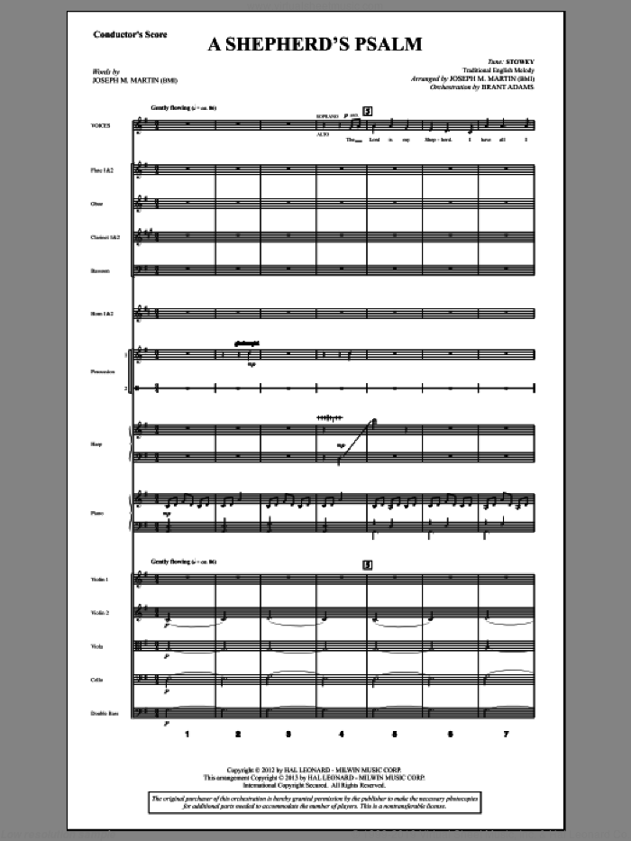 A Shepherd's Psalm sheet music for orchestra/band (score) by Joseph M. Martin