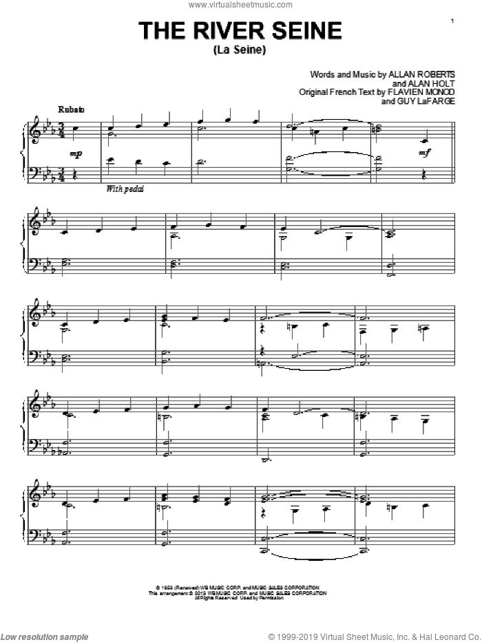 The River Seine (La Seine), (intermediate) sheet music for piano solo by Allan Roberts, Alan Holt, Flavien Monod and Guy LaFarge, classical score, intermediate skill level