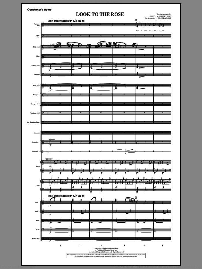 Look to the Rose sheet music for orchestra/band (score) by Joseph M. Martin