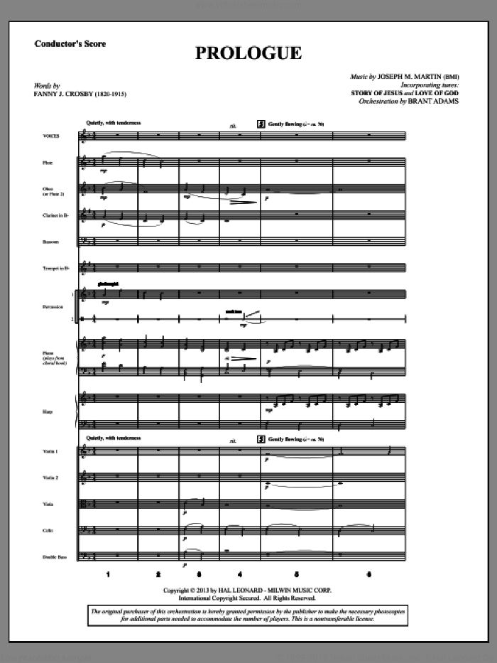Testimony of Life (COMPLETE) sheet music for orchestra/band by Joseph M. Martin, intermediate skill level