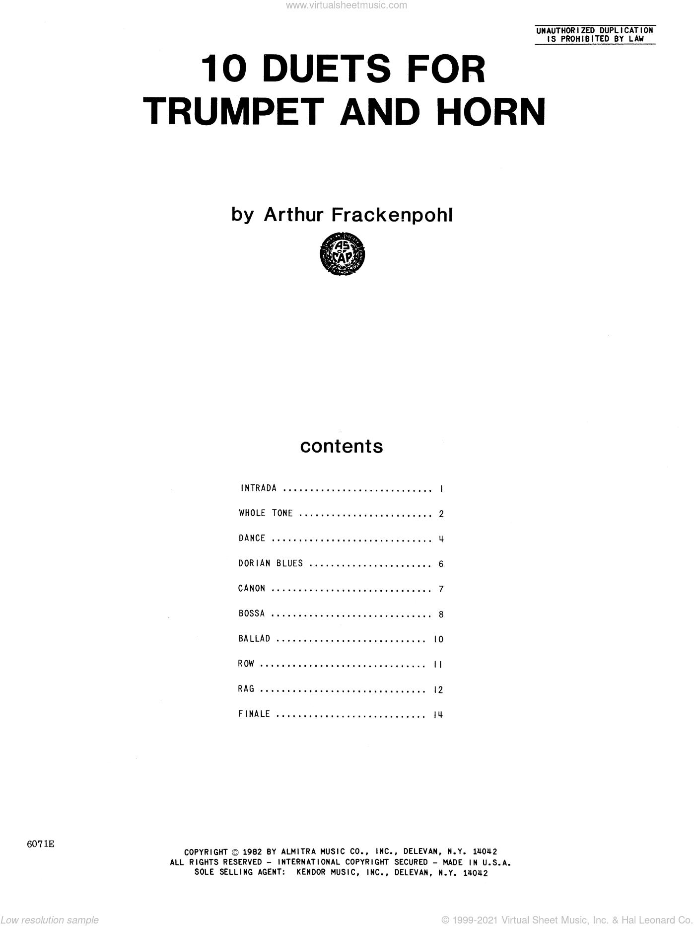 Trumpet Ballad Sheet Music