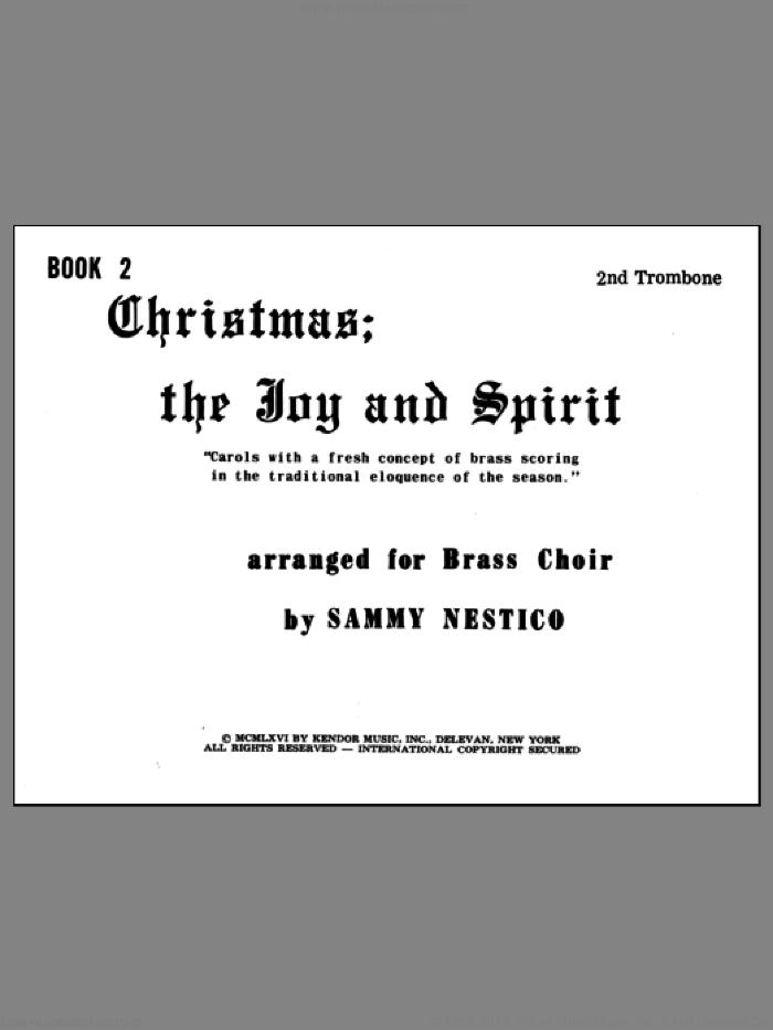 Christmas; The Joy and Spirit - Book 2/2nd Trombone sheet music for brass quintet by Nestico, intermediate skill level