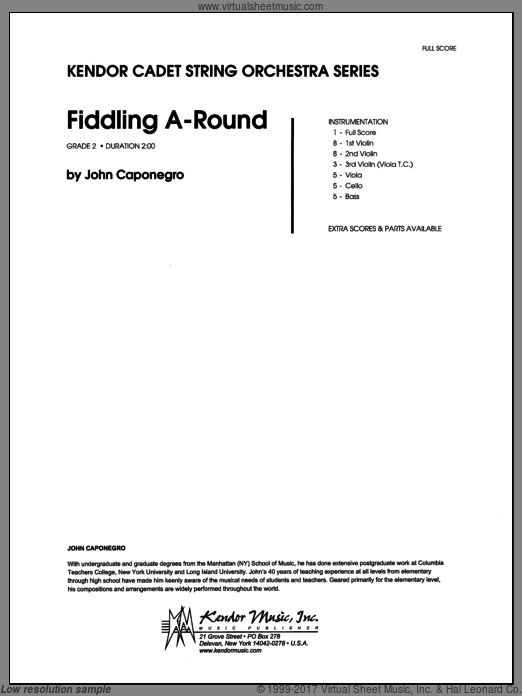 Fiddling A-Round (COMPLETE) sheet music for orchestra by Caponegro