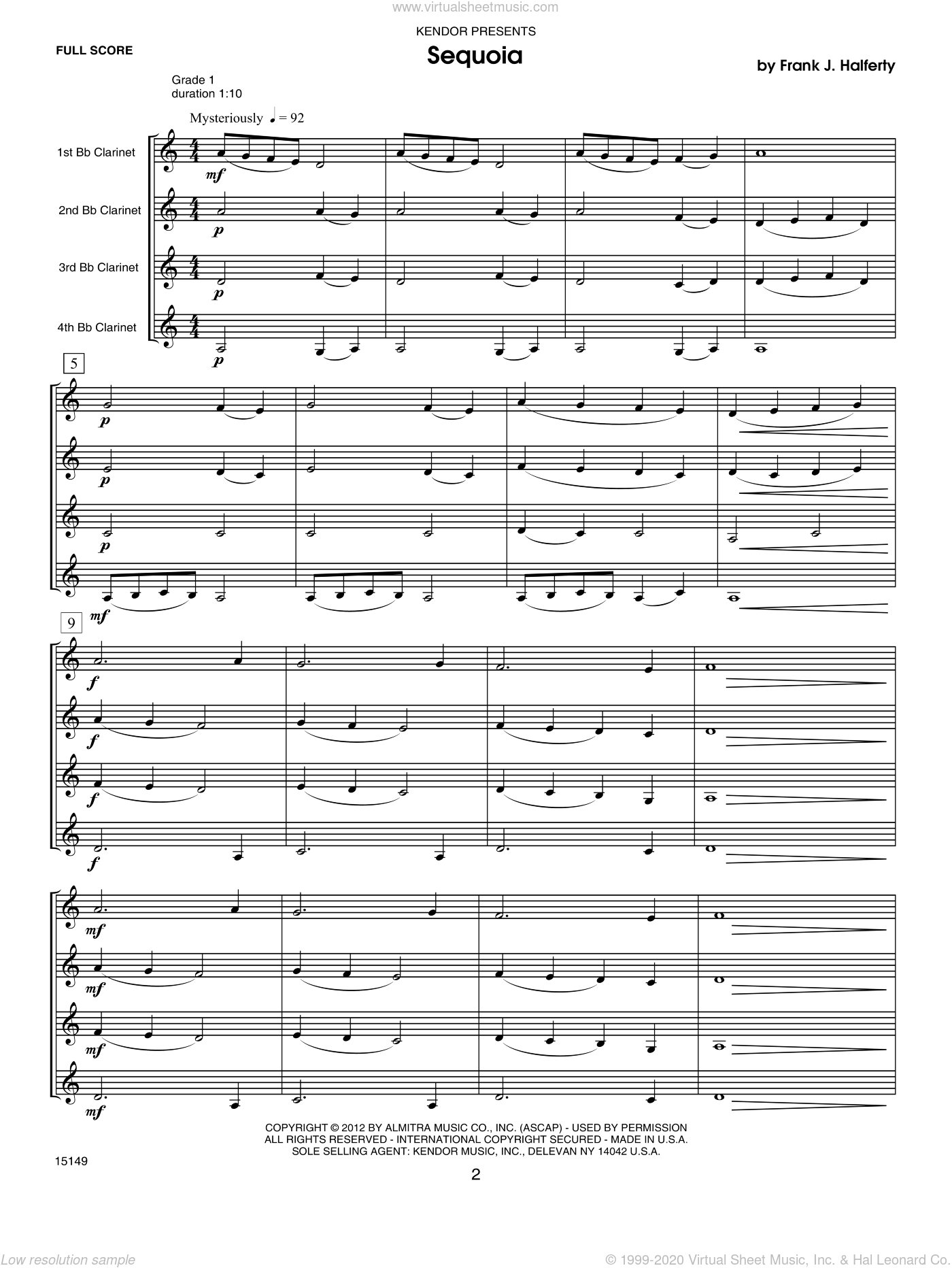 Musical Postcards (10 Clarinet Quartets From Around The World) sheet music for clarinet quartet (full score) by Halferty