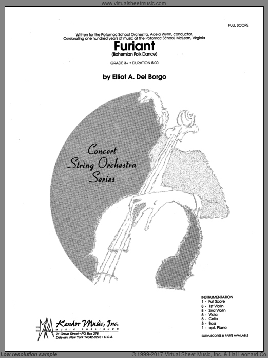 Furiant (Bohemian Folk Dance) (COMPLETE) sheet music for orchestra by Del Borgo