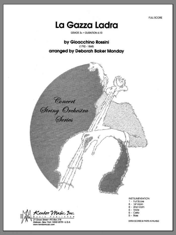 La Gazza Ladra (COMPLETE) sheet music for orchestra by Gioacchino Rossini and Monday, classical score, intermediate skill level