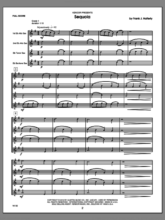 Musical Postcards (10 Saxophone Quartets From Around The World) (COMPLETE) sheet music for saxophone quartet by Frank J. Halferty, classical score, intermediate skill level