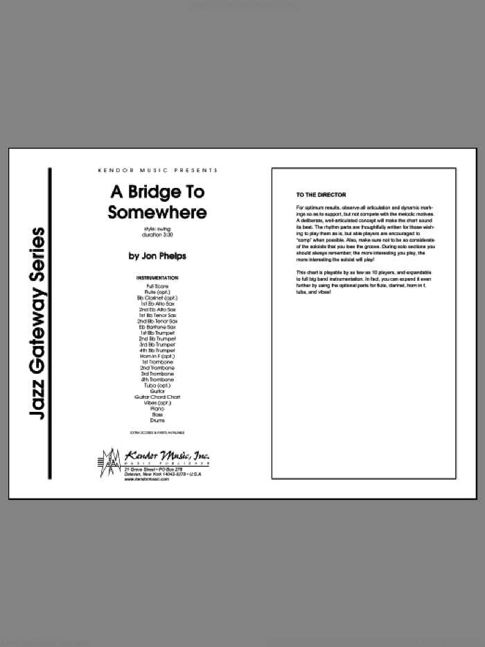 Bridge To Somewhere, A (COMPLETE) sheet music for jazz band by Phelps, intermediate skill level