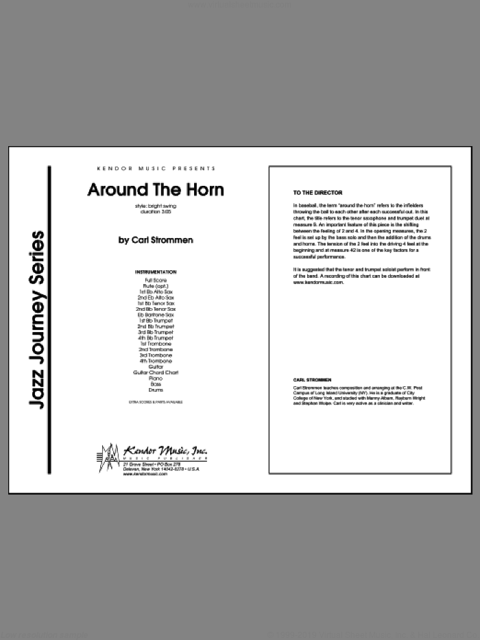 Around The Horn sheet music for jazz band (full score) by Carl Strommen