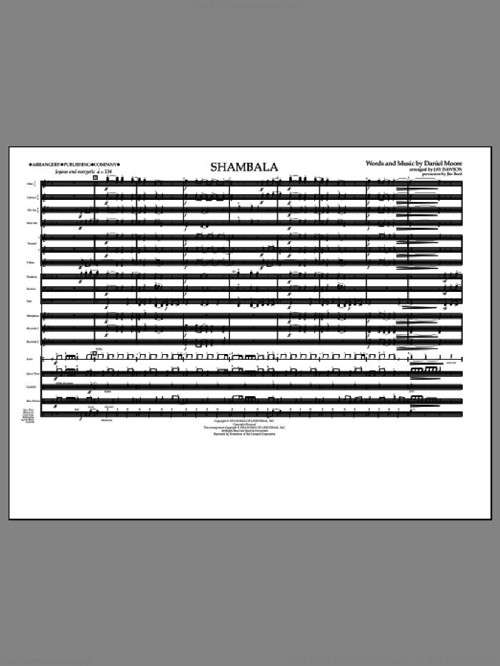 Shambala (COMPLETE) sheet music for marching band by Three Dog Night and Jay Dawson, intermediate skill level