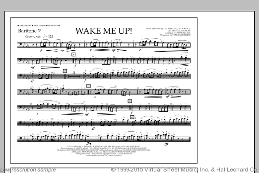 Wake Me Up! (COMPLETE) sheet music for marching band by Tom Wallace