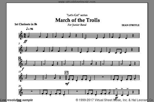 March of the Trolls (COMPLETE) sheet music for concert band by Sean O'Boyle
