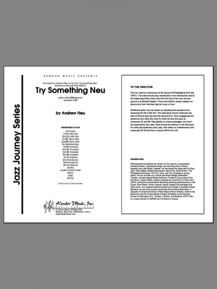 Try Something Neu (COMPLETE) sheet music for jazz band by Neu, intermediate