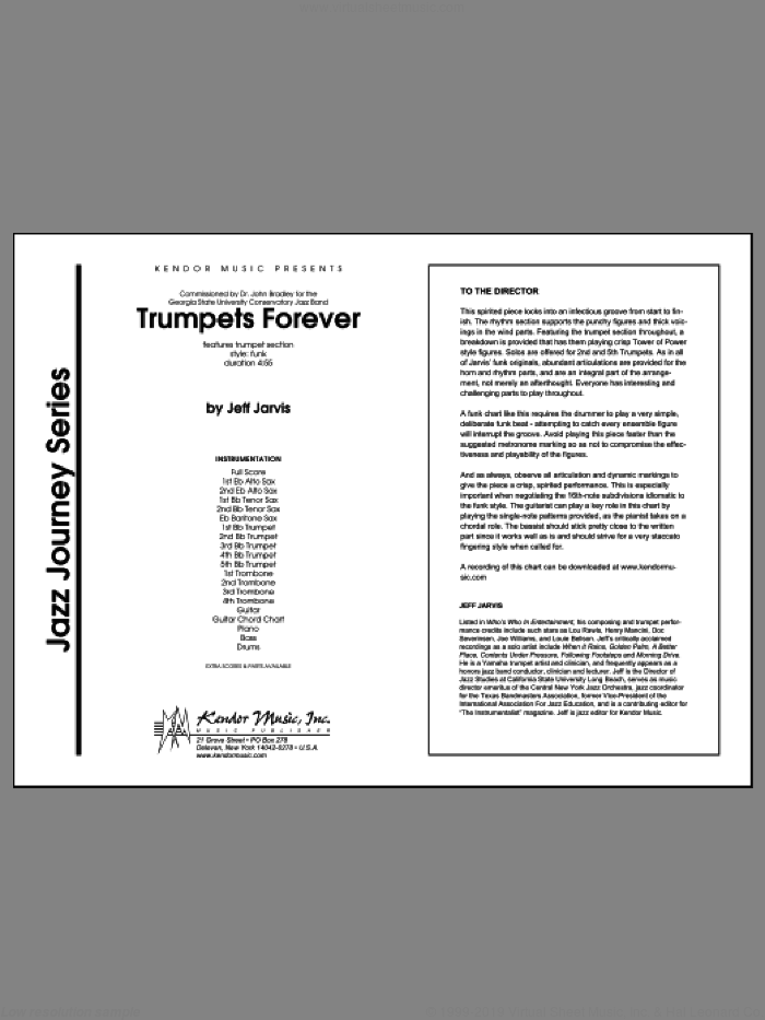 Trumpets Forever (COMPLETE) sheet music for jazz band by Jarvis, intermediate skill level