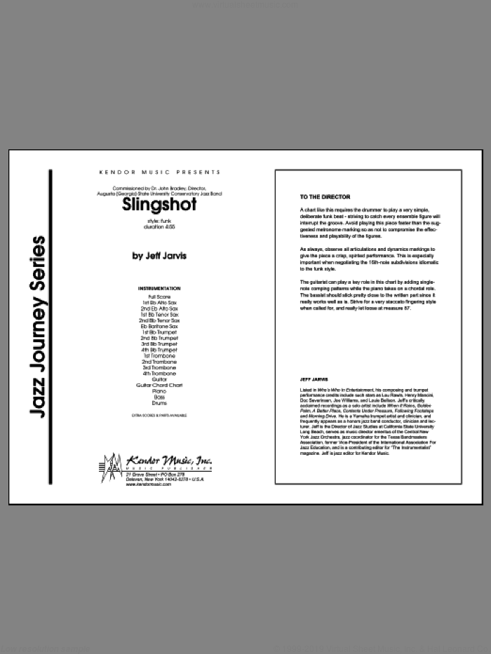 Slingshot (COMPLETE) sheet music for jazz band by Jarvis, intermediate