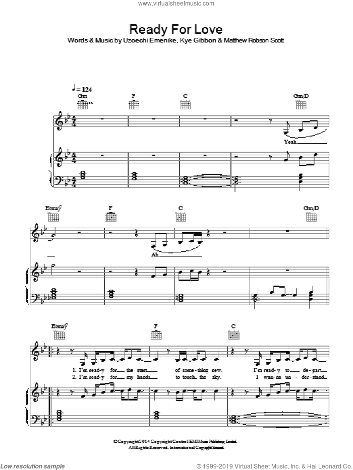 Ready For Your Love sheet music for voice, piano or guitar by Gorgon City, intermediate. Score Image Preview.