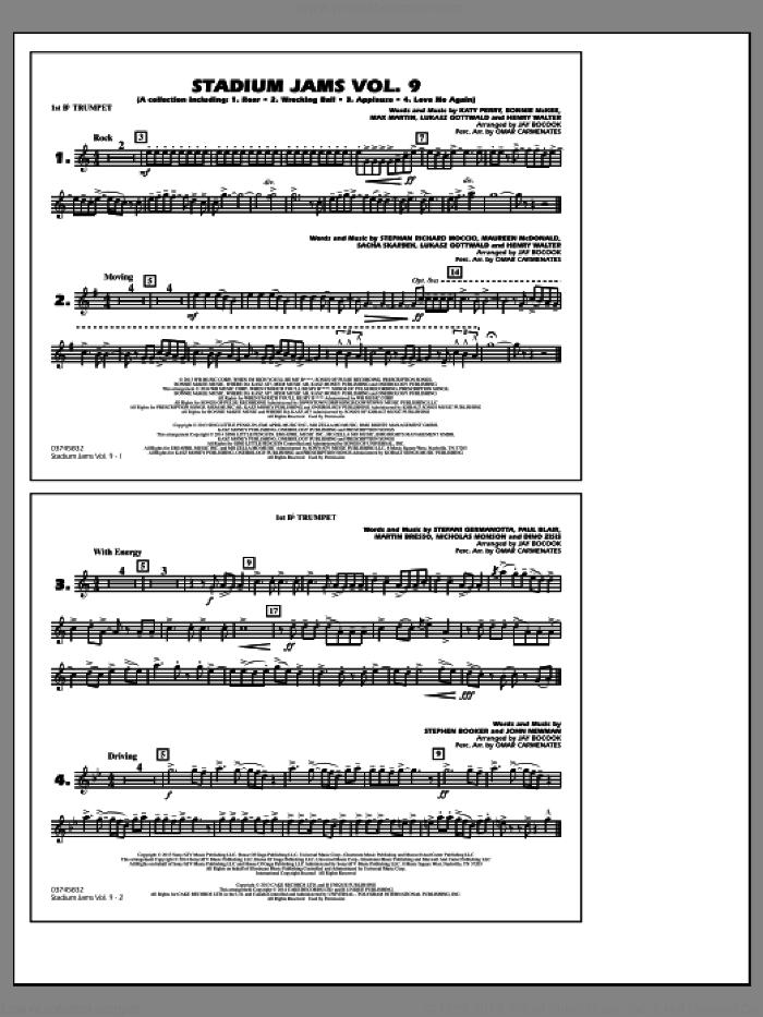 Stadium Jams, volume 9 sheet music for marching band (1st Bb trumpet) by Jay Bocook and Omar Carmenates, intermediate skill level