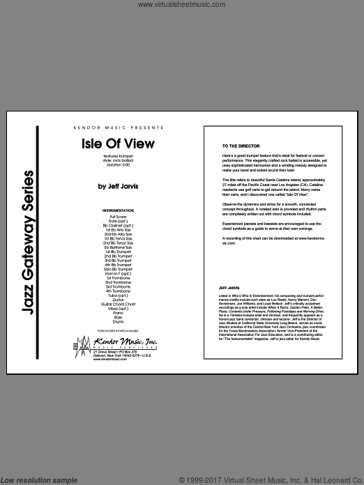 Isle Of View (COMPLETE) sheet music for jazz band by Jeff Jarvis