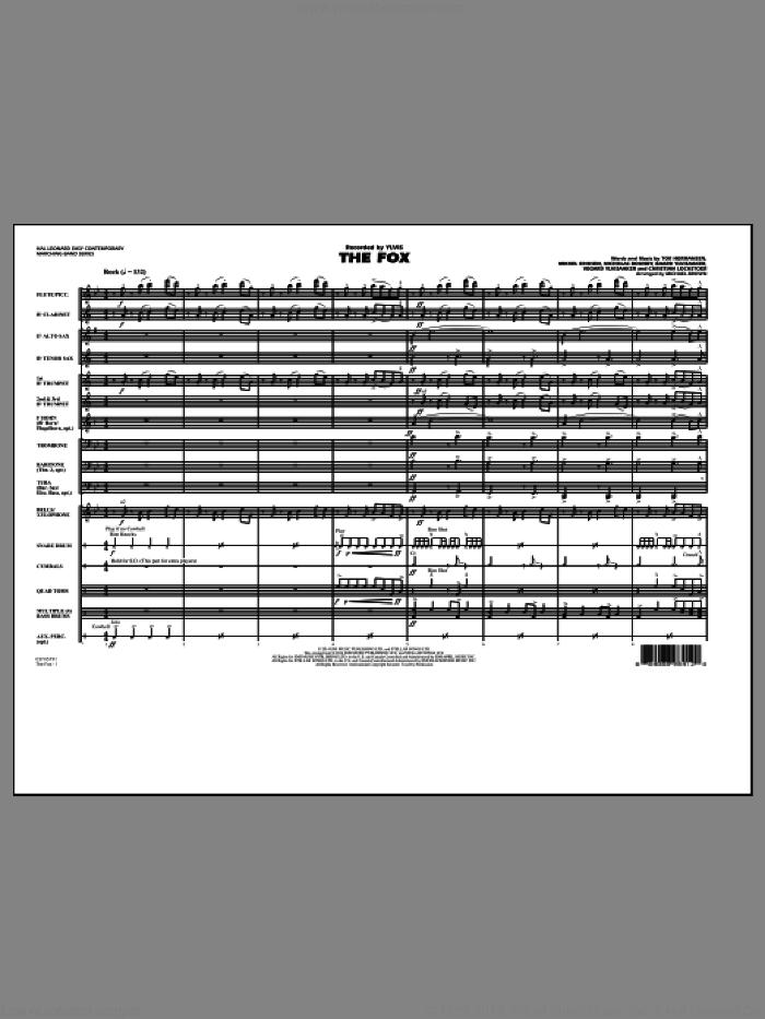 The Fox (COMPLETE) sheet music for marching band by Michael Brown, Baard Ylvisaaker, Christian Lochstoer, Mikkel Eriksen, Nicholas Boundy, Tor Erik Hermansen, Vegard Ylvisaaker and Ylvis, intermediate skill level