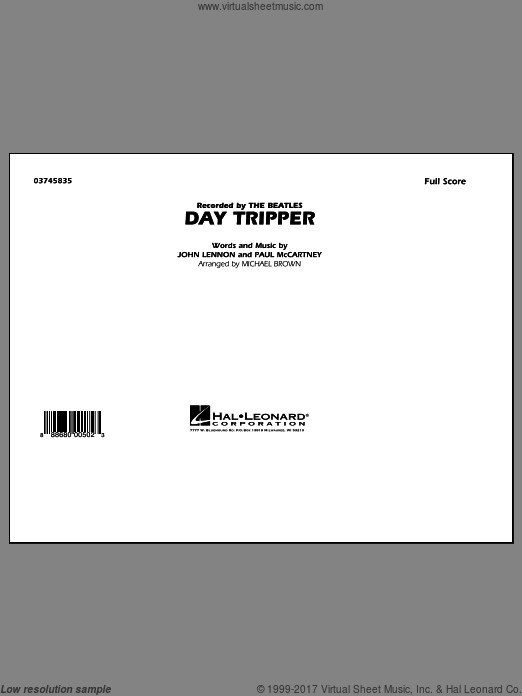 Day Tripper (COMPLETE) sheet music for marching band by Paul McCartney
