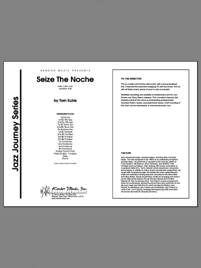 Seize The Noche (COMPLETE) sheet music for jazz band by Tom Kubis, intermediate skill level