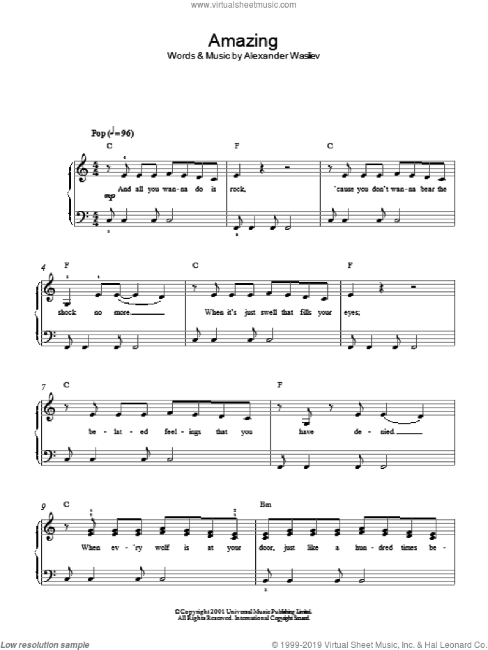 Amazing sheet music for piano solo by Alex Lloyd. Score Image Preview.