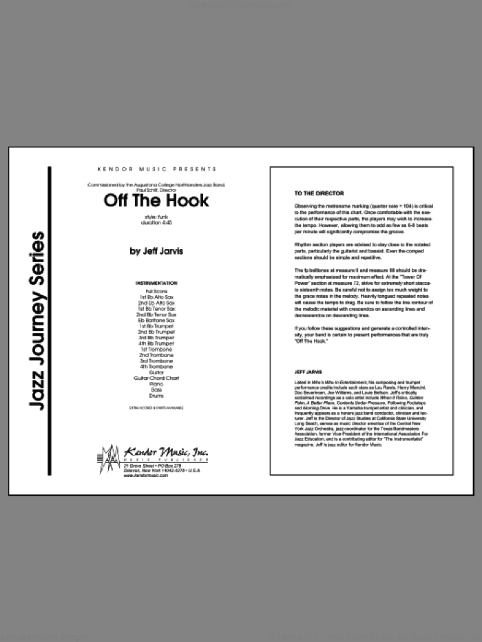 Off The Hook sheet music for jazz band (full score) by Jeff Jarvis