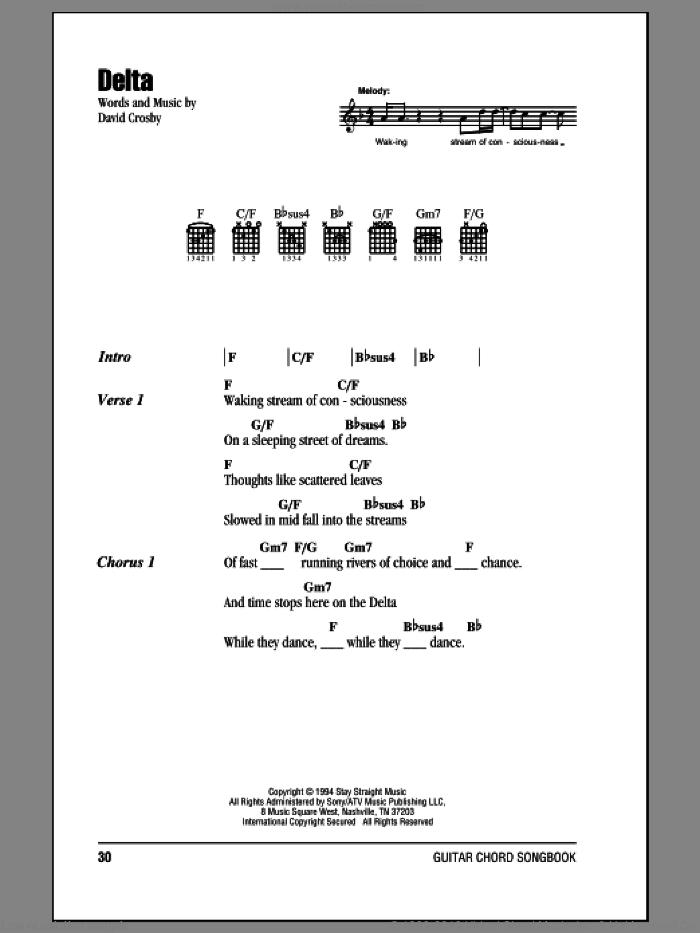 Nash - Delta sheet music for guitar (chords) [PDF]