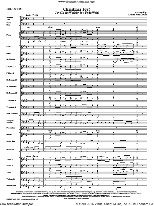 Christmas Joy! (COMPLETE) sheet music for orchestra by Avalon and Andre Williams. Score Image Preview.