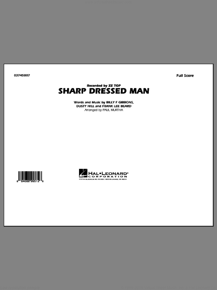 Sharp Dressed Man (COMPLETE) sheet music for marching band by Paul Murtha, Billy Gibbons, Dusty Hill, Frank Beard and ZZ Top, intermediate. Score Image Preview.